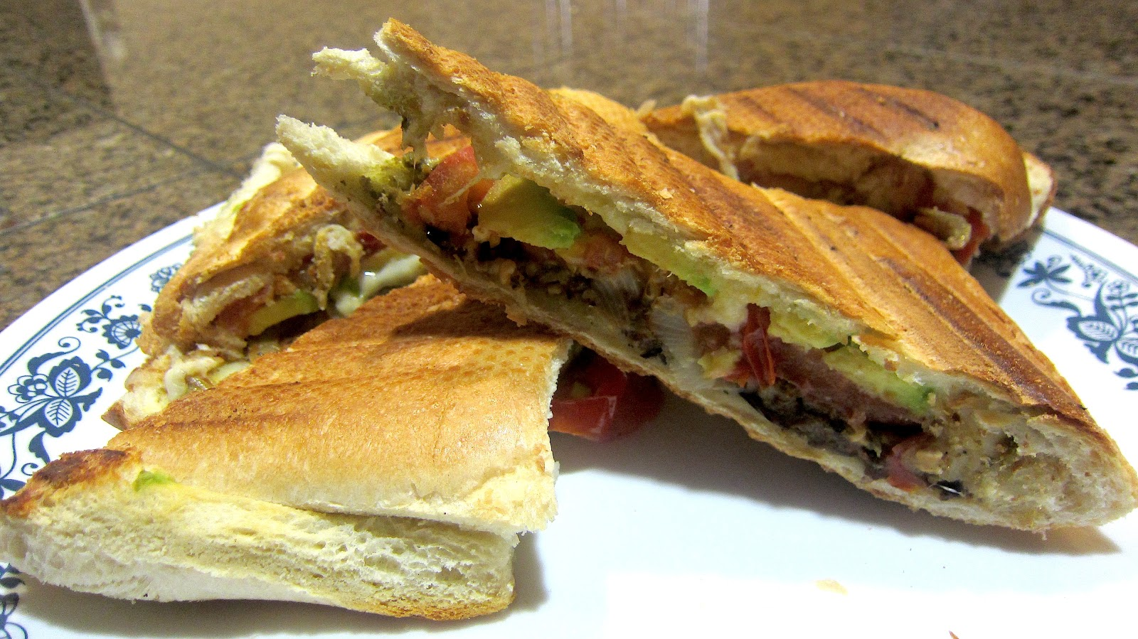 ... pesto tomato and roasted eggplant spread fried eggplant sandwich
