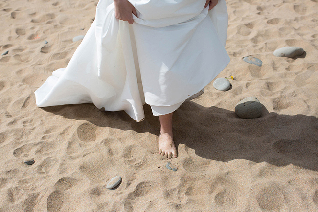Wedding Photography Doonbeg Ireland, bride and groom at the beach