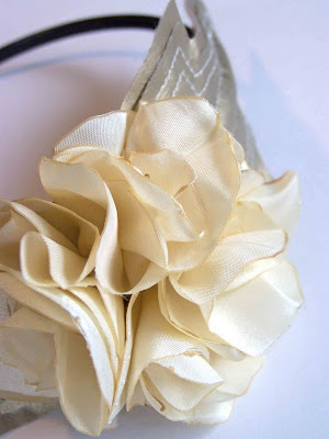 how to make material flowers for headbands