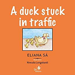 A duck stuck in traffic