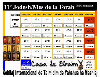 CALENDARIO 11º JODESH/MES
