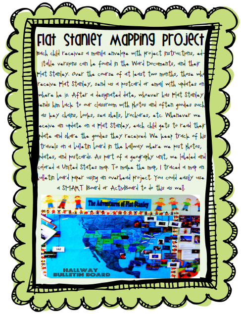 flat stanley project letter
