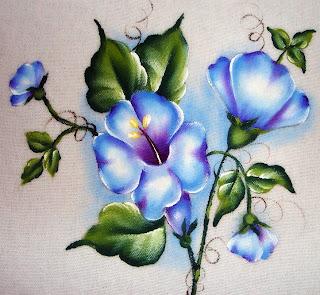 Desenho Flor on Pintura Em Tecido Desenho Flor Campanula Jpg