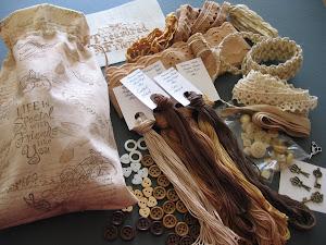 Muslin hand made gift bags