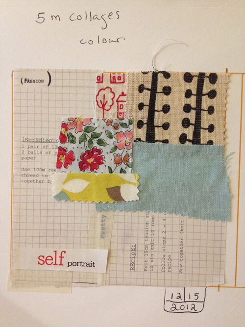 Laura+Bucci+5+Minute+Collage+with+Fabric+Pieces Art Journalling Inspiration | Spontaneity and 5 Minute Collages by Laura Bucci