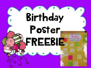 http://www.teacherspayteachers.com/Product/Birthday-Poster-FREEBIE-1035775