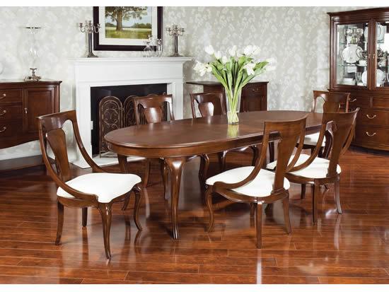 Muebles y decoraci n de interiores mesa oval para el comedor for Mesas ovaladas para comedor