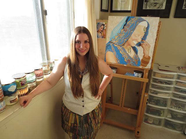 youthdale, sleep clinic, sleep psychology, malinda prudhomme, artist, art, toronto art, toronto, toronto metro hall, portrait artist, golden indian bride, beauty art, realism, eye paintings, toronto portrait artist
