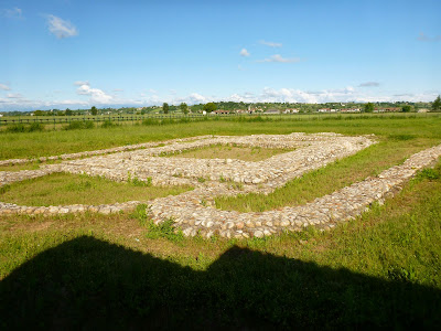 Augusta Bagiennorum - Ruins of la basilica cristiana