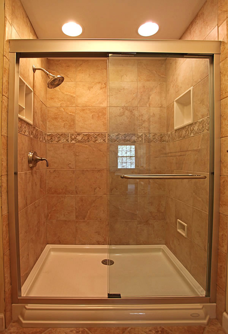 Home design idea small bathroom designs shower for Tiny bathroom tile ideas