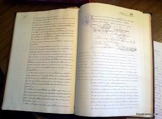 Libro de actas Candelario