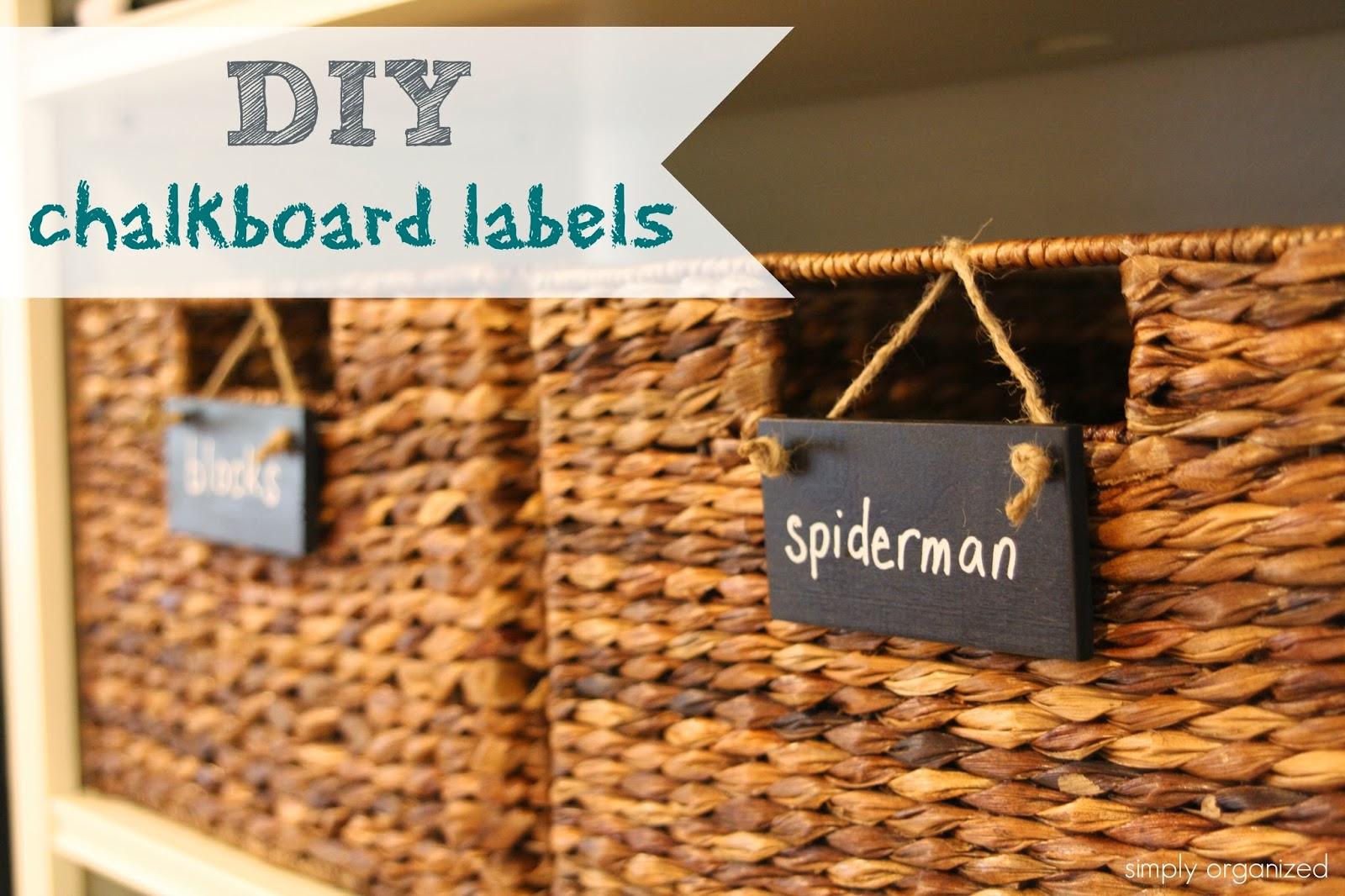 Simply organized diy wooden chalkboard labels for Diy chalk labels