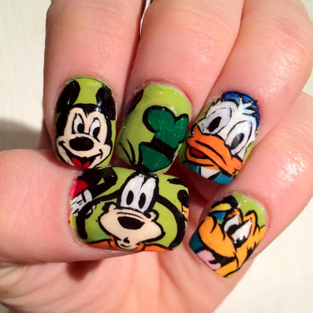 disney nail design - pccala