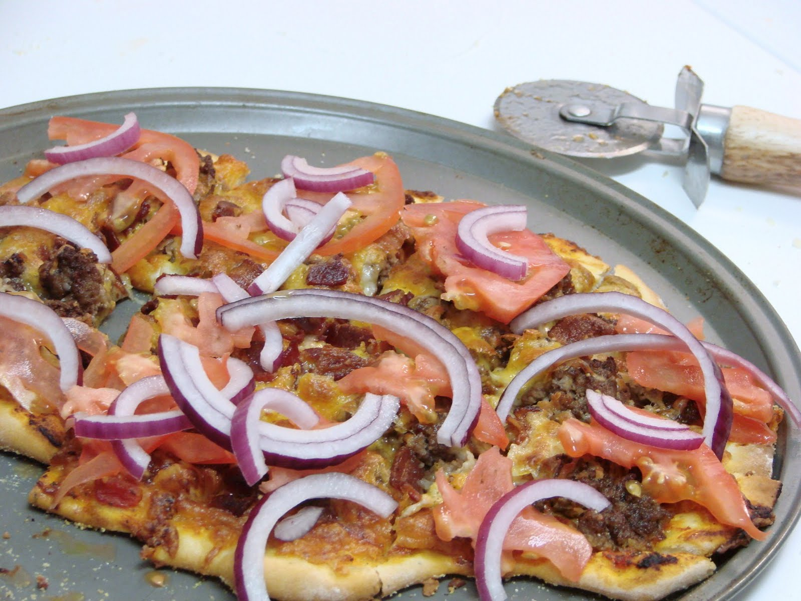 Bacon Cheeseburger Pizza 2