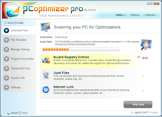 Screenshot PC Optimizer Pro 6.4.2.4 Full Version Scan