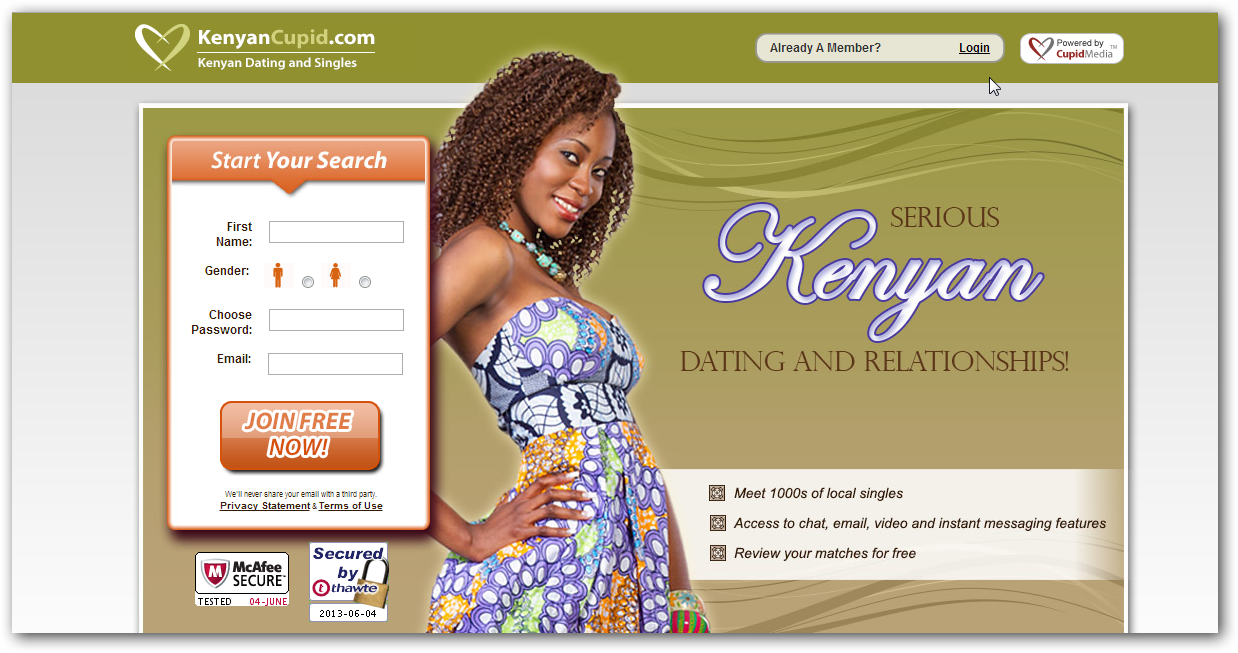 kenyan online dating services Kenyancupid @kenyan_cupid http:// kenyancupidcom is a leading kenyan dating site used by 1000s of kenyan singles looking for love and an exciting online dating.