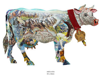 Peter Clark collage cow