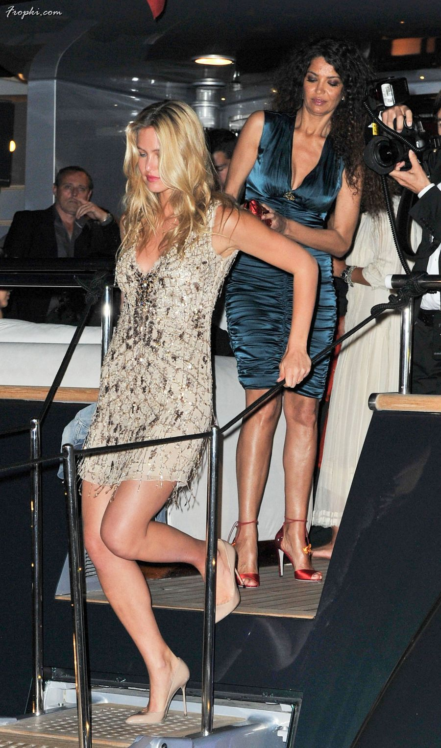 Bar Refaeli in Arrivals at the Cavalli Party in Cannes