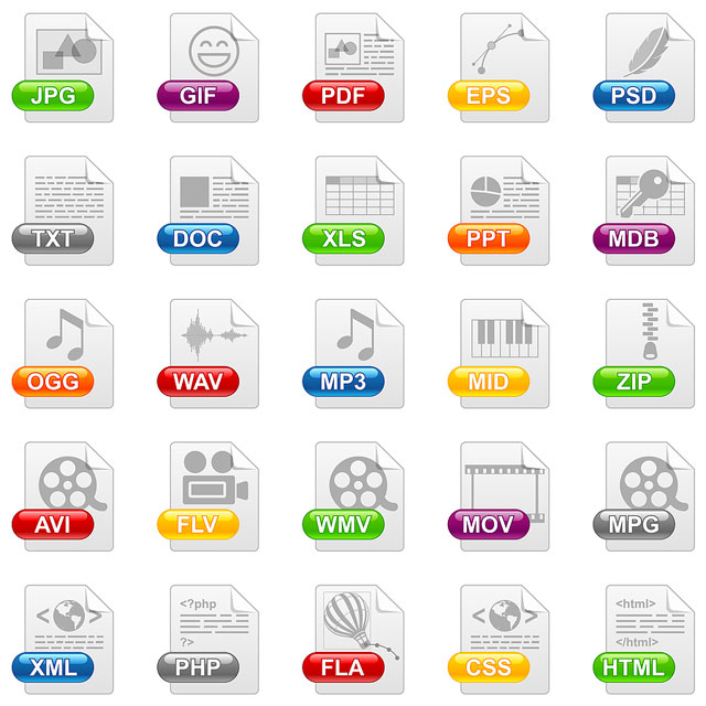 Different file types with abbrevation explanation royal - Office open xml format or open document format ...
