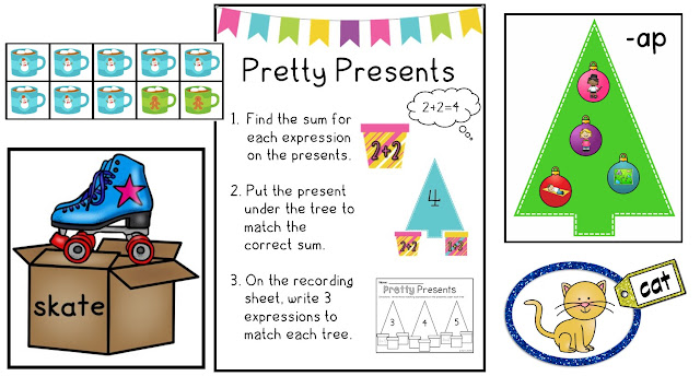 https://www.teacherspayteachers.com/Product/Kindergarten-Christmas-Math-and-Literacy-Centers-1001407