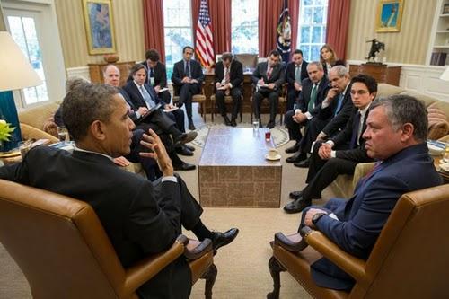 Obama and King Abdullah II