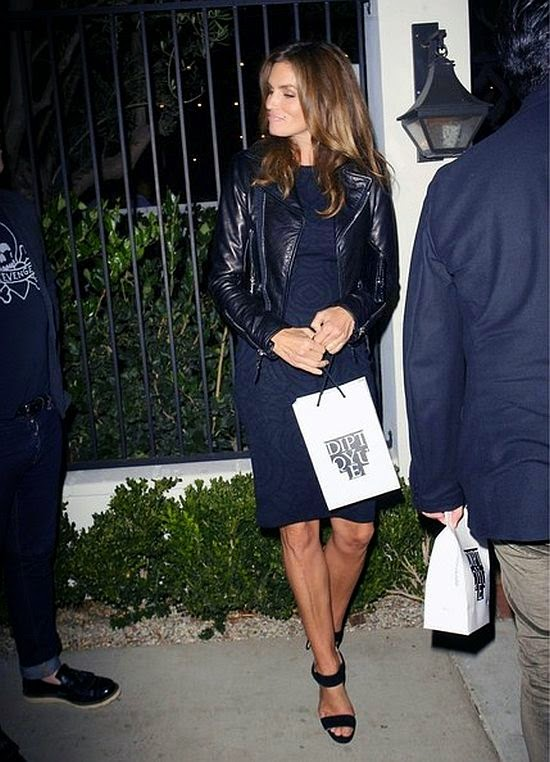 Every day is a fashion show for the hardest working woman, but this rocking design has a definite asylum-wear feel. And Cindy Crawford made another fashion statement on Thursday, October 16, 2014 as she stepped out at Beverly Hills, CA, USA with husband, Rande Gerber for the Delete Blood Cancer event.