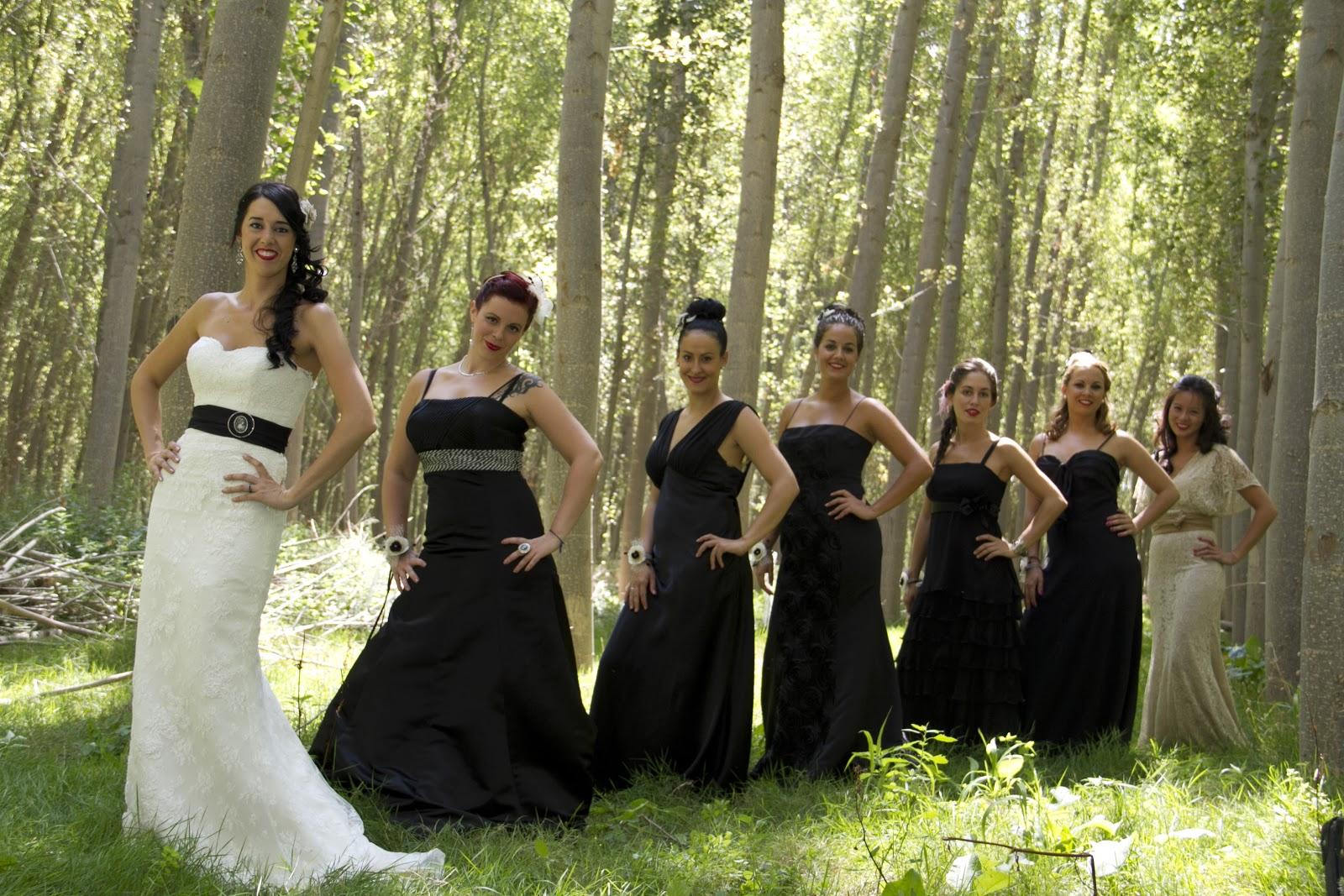 Vestidos para damas de honor color negro