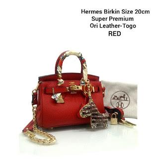 Tas KW HERMES BIRKIN Mini Togo Premium 6006VL Jakarta