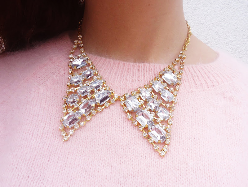 crystal necklace collar