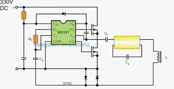 120v  220v Electronic Ballast Circuit For Twin 40 Watt
