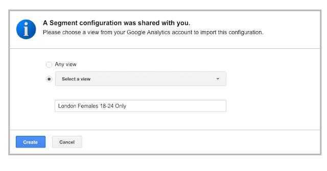 Sharing segment configurations
