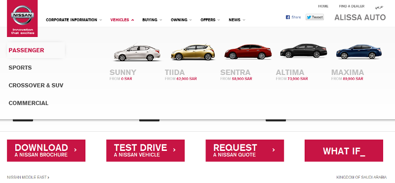 trusted dealer of Nissan vehicles in KSA