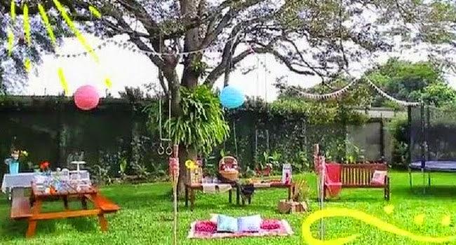 Cara Hiasi Taman Untuk Pesta