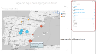 Mapas con Power View de Excel.