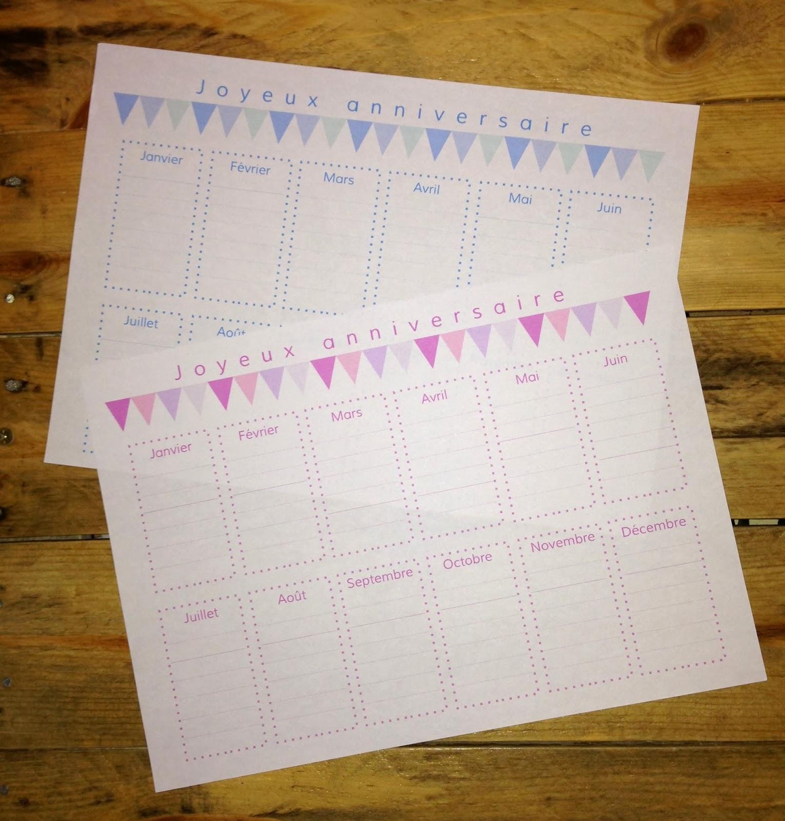 gabulle in wonderland calendrier des anniversaires imprimer. Black Bedroom Furniture Sets. Home Design Ideas
