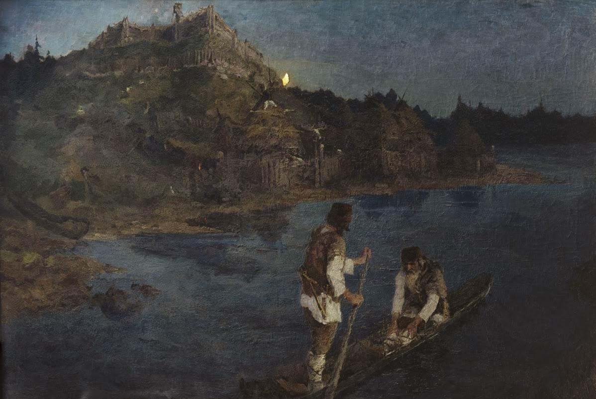 Н.К.Рерих. Гонец. «Восста род на род». 1897. ГТГ