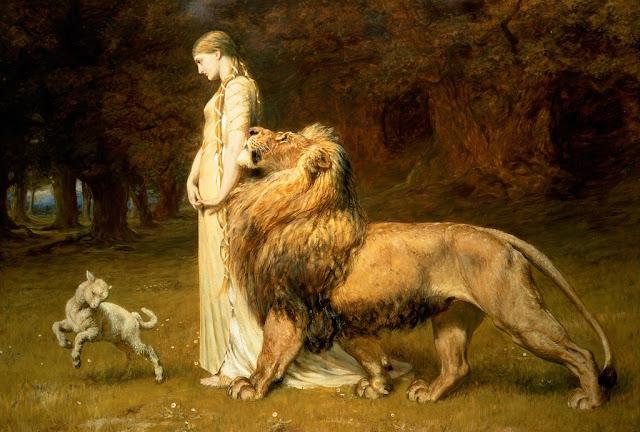 romanticism,lion,sheep