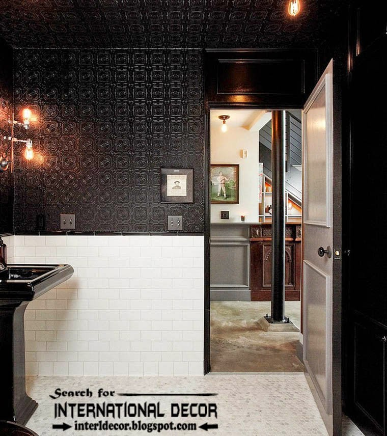 tips to creating retro interior design style, black and white bathroom retro style