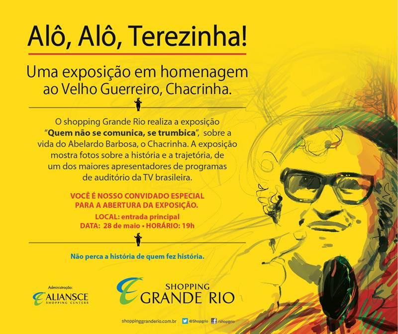 Shopping Grande Rio abre exposição sobre o Chacrinha