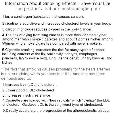 information about smoking