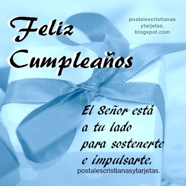 Tarjeta con mensaje cristiano en cumpleaños, postal cristiana para felicitar cumple, frases de felicitación.