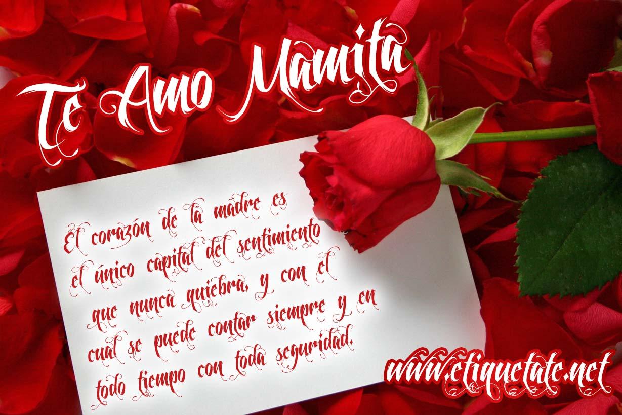 te amo poemas para mama