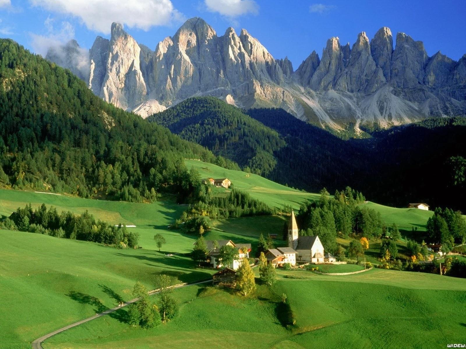 Casas del bosque de montaña campo