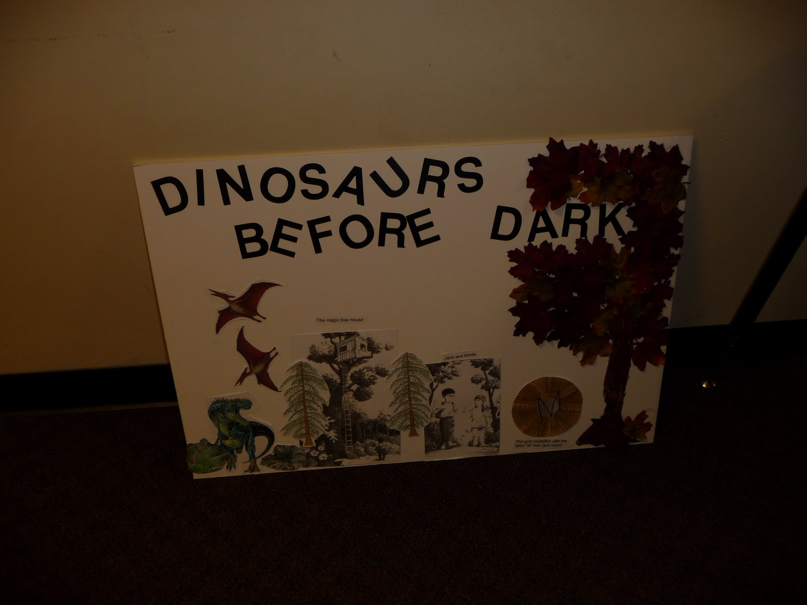 book report on dinosaurs before dark