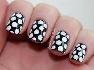 nokti slike crno beli motivi 007