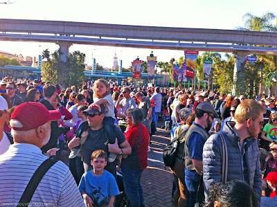 Disneyland extra magic morning early hour crowd waiting February