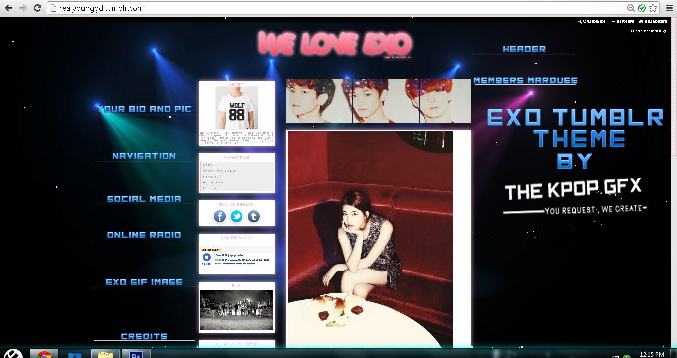 Google theme kpop exo -  Themes Exo Tumblr Theme