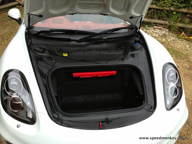 2013 Porsche Cayman front storage