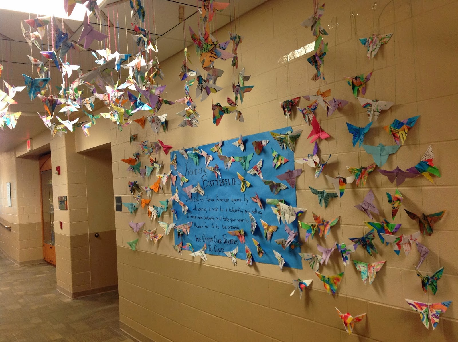 Origami Butterfly Art Lesson with Prayer