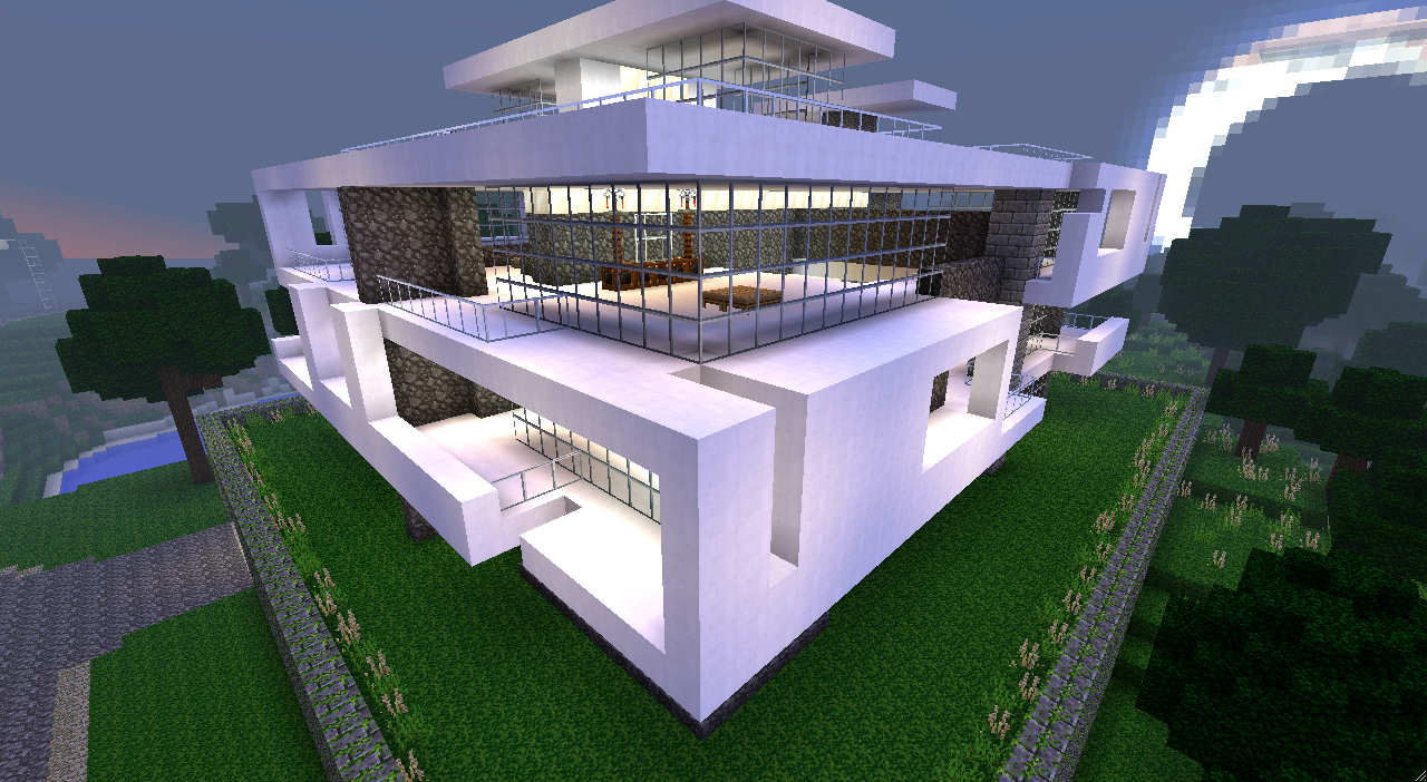 Plan de maison moderne minecraft - Construction maison minecraft ...